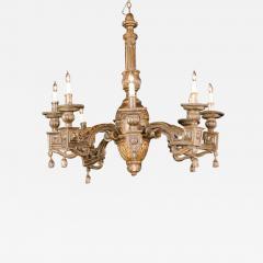 Fine Italian Neoclassic Giltwood Eight Arm Chandelier Late 18th Century - 410136