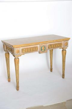 Fine Italian Neoclassic Painted and Parcel Gilt Console Roman Late 18th Century - 391074