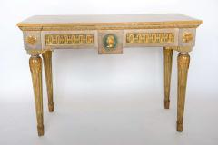 Fine Italian Neoclassic Painted and Parcel Gilt Console Roman Late 18th Century - 391075