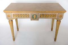 Fine Italian Neoclassic Painted and Parcel Gilt Console Roman Late 18th Century - 391076