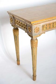 Fine Italian Neoclassic Painted and Parcel Gilt Console Roman Late 18th Century - 391077