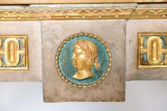 Fine Italian Neoclassic Painted and Parcel Gilt Console Roman Late 18th Century - 391078