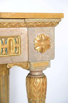 Fine Italian Neoclassic Painted and Parcel Gilt Console Roman Late 18th Century - 391079