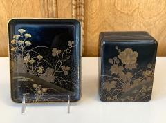 Fine Japanese Set of Lacquer Maki e Box and Tray with Meiji Period - 1615939