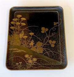 Fine Japanese Set of Lacquer Maki e Box and Tray with Meiji Period - 1615941