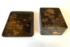 Fine Japanese Set of Lacquer Maki e Box and Tray with Meiji Period - 1615942