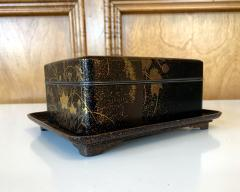 Fine Japanese Set of Lacquer Maki e Box and Tray with Meiji Period - 1615943