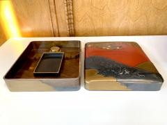 Fine Japanese Suzuribako Box with Storage Box and Provenance - 1618976