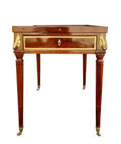 Fine Louis XVI Mahogany and Ormolu Mounted Tric Trac Table - 1521961