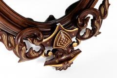 Fine Mahogany Wood Framed Victorian Hanging Mirror - 1038012