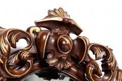 Fine Mahogany Wood Framed Victorian Hanging Mirror - 1038013