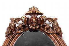 Fine Mahogany Wood Framed Victorian Hanging Mirror - 1038015