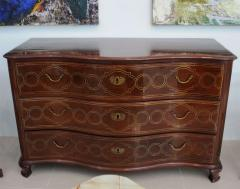 Fine Maltese Rosewood and Brass Inlaid Commode - 390534
