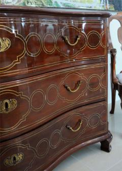 Fine Maltese Rosewood and Brass Inlaid Commode - 390539