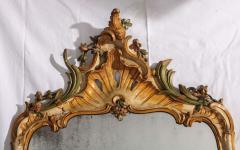Fine Nord Italian 18th Century Painted Mirror - 636540