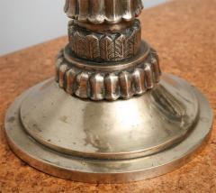Fine Pair of Art Deco Silvered Bronze Five Light Candelabra - 364599