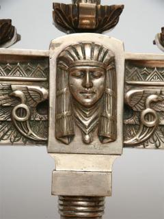 Fine Pair of Art Deco Silvered Bronze Five Light Candelabra - 364603