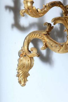 Fine Pair of Charles X Dor Bronze Five Arm Wall Lights - 390838