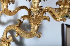 Fine Pair of Charles X Dor Bronze Five Arm Wall Lights - 390840