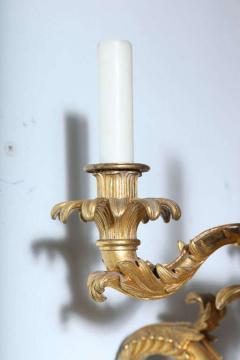 Fine Pair of Charles X Dor Bronze Five Arm Wall Lights - 390841