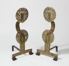 Fine Pair of English Arts Crafts Andirons - 1570102