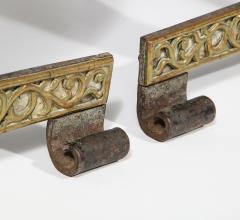 Fine Pair of English Arts Crafts Andirons - 1570103