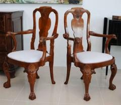 Fine Pair of George II Padouk Armchairs Anglo Indian - 391067