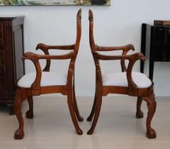 Fine Pair of George II Padouk Armchairs Anglo Indian - 391068