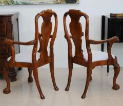 Fine Pair of George II Padouk Armchairs Anglo Indian - 391069