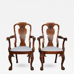 Fine Pair of George II Padouk Armchairs Anglo Indian - 397664