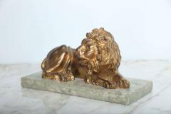 Fine Pair of Gilt Bronze Lion and Lioness on Marble Bases Italy - 364659