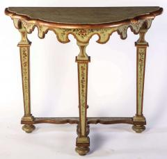 Fine Pair of Italian 18th Century Painted Console Tables with Pair of Mirrors - 632740