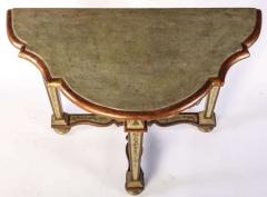 Fine Pair of Italian 18th Century Painted Console Tables with Pair of Mirrors - 632741