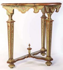 Fine Pair of Italian 18th Century Painted Console Tables with Pair of Mirrors - 632744