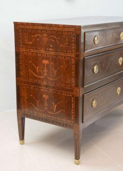 Fine Pair of Italian Neoclassic Marquetry and Parquetry Inlaid Commodes - 388490