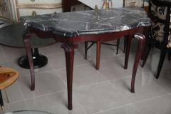 Fine Pair of Portuguese Rococo Rosewood and Marble Consoles - 392067
