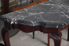 Fine Pair of Portuguese Rococo Rosewood and Marble Consoles - 392069