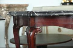Fine Pair of Portuguese Rococo Rosewood and Marble Consoles - 392070