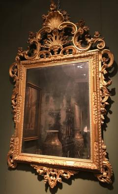 Fine Pair of Venetian Carved and Giltwood Mirrors Italy circa 1750 - 632562