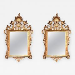 Fine Pair of Venetian Carved and Giltwood Mirrors Italy circa 1750 - 633263
