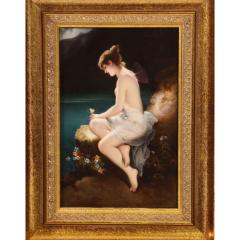Fine Quality Antique Berlin K P M Hand Painted Porcelain Plaque Psyche  - 1217792