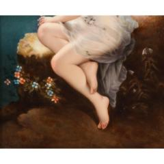 Fine Quality Antique Berlin K P M Hand Painted Porcelain Plaque Psyche  - 1217793