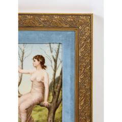 Fine Quality Antique Berlin K P M Hand Painted Porcelain Rectangular Plaque - 1217721