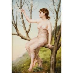 Fine Quality Antique Berlin K P M Hand Painted Porcelain Rectangular Plaque - 1217722