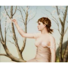 Fine Quality Antique Berlin K P M Hand Painted Porcelain Rectangular Plaque - 1217724