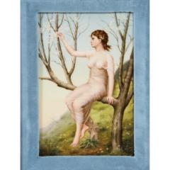 Fine Quality Antique Berlin K P M Hand Painted Porcelain Rectangular Plaque - 1217725