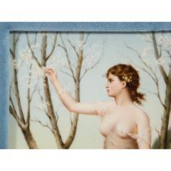 Fine Quality Antique Berlin K P M Hand Painted Porcelain Rectangular Plaque - 1217729