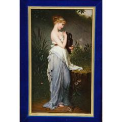 Fine Quality Berlin K P M Hand Painted Porcelain Plaque Psyche with Vase  - 1217783