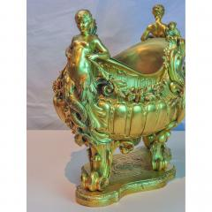 Fine Quality Gilt Bronze centerpiece Jardiniere with Mermaid Figural Handles - 1434975