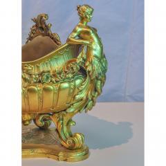 Fine Quality Gilt Bronze centerpiece Jardiniere with Mermaid Figural Handles - 1434977